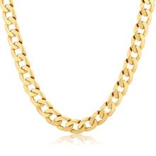 Cheap Dubai Jewelry 14K Gold Filled plateó la cadena larga del cuello del collar del acero inoxidable New Gold Chain Design para los hombres