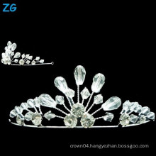 Fashion crystal wedding crown, small crystal queen crowns, small girls crown