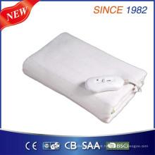 3 temperatura ajustando cobertor aquecido elétrico com tecido de lã polar