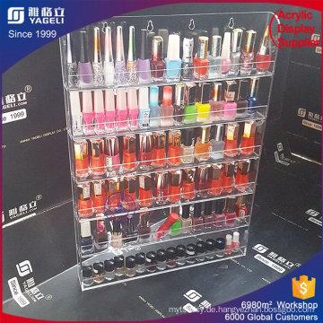 Rotierende Acryl Nagellack Rack Display Acryl Organizer Lippenstift Holder