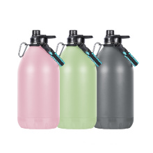 128 oz Wholesale Custom logo Sports Stainless Steel Vacuum Insulated One Gallon Beer Water Jug With Lid