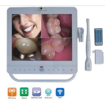 15inch White Monitor Intraoral Camera Dental avec VGA + Vidéo + HDMI + USB Port