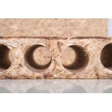 Panneau aggloméré tubulaire pour panneaux de particules isolants à noyau de porte