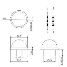 20mm Round Super Brilho LED (GNL-20003UED)