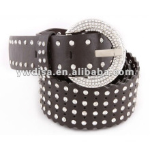 Women's PU Belt With Crystals