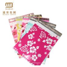 Comercio al por mayor Custom Impreso Boutique 2.5 Mil 10X13 Tear Proof Flower Designer China Poly Mailers Bolsa con Logo