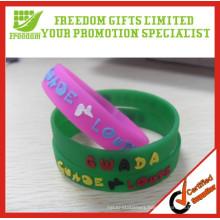 New Type Custom Logo Printed Eco-friendly Rubber Silicone Wristband