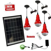LED mini-kits de luz solares com bateria recarregável e interruptor de controle remoto