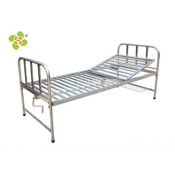 Cama Fowler de hospital de acero inoxidable