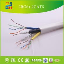 Chine Vente de câble composite haut de gamme 2RG6 + 2cat5e