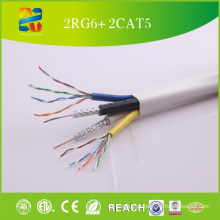 Cabo composto de alta qualidade 2RG6 e 2UTP Cat5e