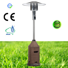 Wicker Pyramid Glass Tube Outdoor Gas Patio Heater