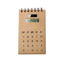 Kraft Cover Notebook Vertical avec calculatrice Dual Power