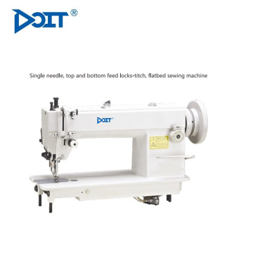 Máquina de coser industrial DT0302 de alta velocidad de alimentación plana de una sola aguja Heavy Duty cuero de coser industrial