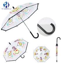 2020 Hot Sale Transparent Custom Kids Umbrella Rain