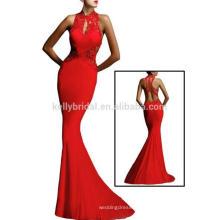 Sex rot offenen feinen Blumen Pailletten Hochzeit lange Abendkleider Party tragen