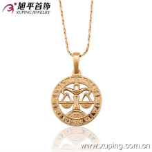 32454 Fashion jewelry 18k gold plated constellations pendant