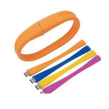 Fashionable Customized Silicon Rubber USB Wrist Band