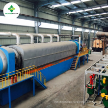 CE SGS certificates fully continuous shred tyres pyrolysis to oil machine