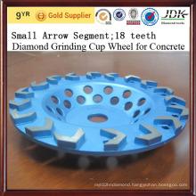 Small Arrow Diamond Segment Diamond Grinding Cup Wheel for Concrete