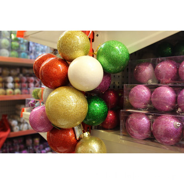 Weihnachtsglittery Pearlized Plastic Ball
