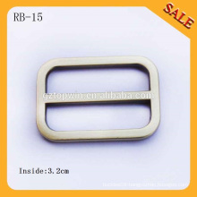 RB15 European Brush Antique brass Handbag Round Metal Slide Bar Buckles
