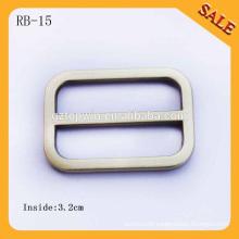 RB15 European Brush Antique brass Handbag Round Metal Slide Bar Buckles