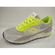 2016 limão sapatos de prata brilhante esporte para as mulheres
