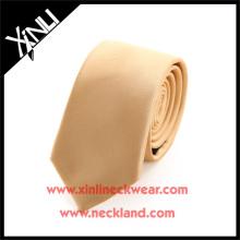 Perfekte Knoten 100% Handarbeit Jacquard Woven Boys Gold Krawatten
