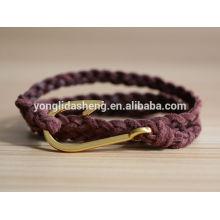 ShenZhen trenzó las tendencias calientes 2014 de la joyería de las pulseras de la manera de la pulsera del metal.