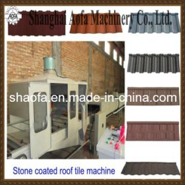 Máquina de telha galvanizada colorida com revestimento de pedra (AF)