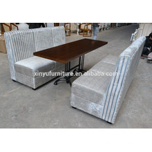 Modern restaurant booth sofa and table set XYN560