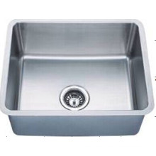 De acero inoxidable solo tazón lavamanos hecho a mano Kus2117-N