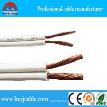 Blanco Cable paralelo negro 300V Spt Flexible Cable de alimentación eléctrica