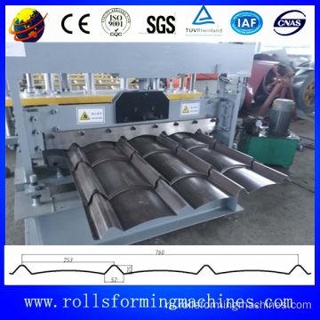 Sri Lanka model type arc glazed tile roofing roll forming machine