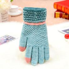 Benutzerdefinierte Großhandel Warm Winter Frauen Mann Acryl Strick Snowboard Mode Handschuhe