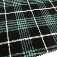 Tejido teñido de hilo de algodón 100% (verde)