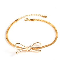 Sterling silver 24K gold anklet women's foot jewelry
