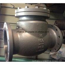 Обратный клапан с обратным клапаном Wcb из углеродистой стали 150 фунтов / 300 фунтов