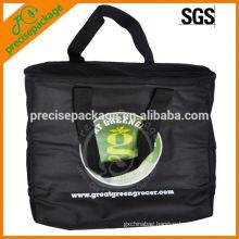 Customized insulated non woven black cooler bag