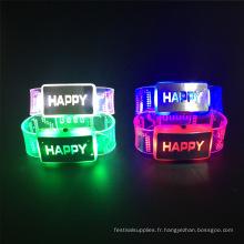 nouvel an 2017 décoration de mariage joyeux clignotant led bracelet
