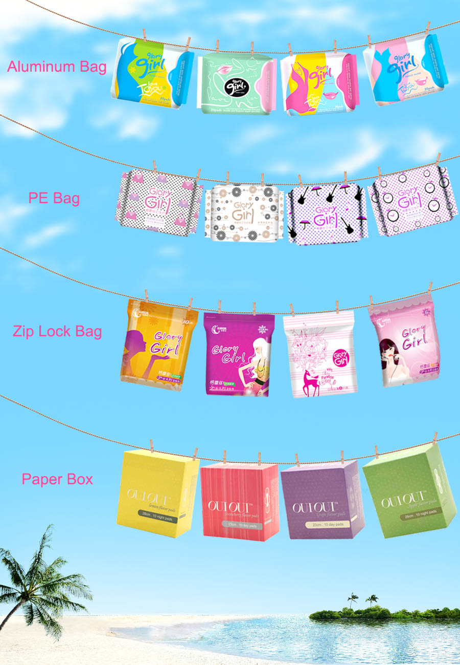 Lady Anion Sanitary Pads With Wings