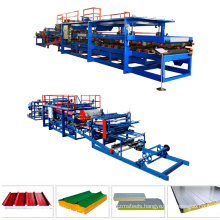 Composite Steel Sheet EPS Roof And Wall Polyurethane Sandwich Panel Press Machine