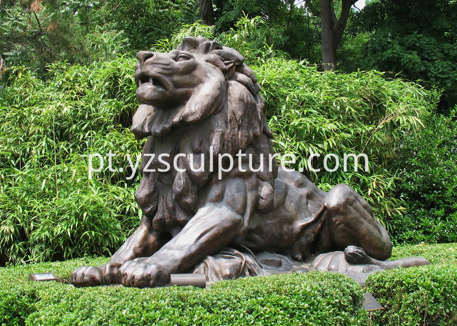Bronze Lion Sculpture