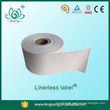 etiquetas de papel sem base de etiquetas linerless