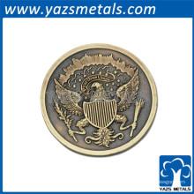 Esmalte hecho a medida moneda conmemorativa antigua