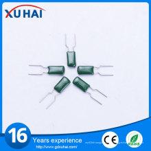 Condensateur de film en polyester vert haute tension de haute qualité