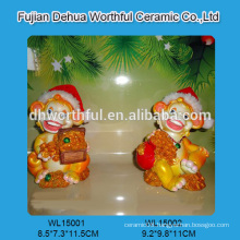 Personalized polyresin animal figurines in monkey shape