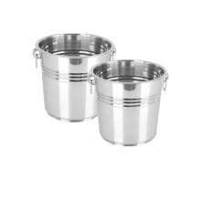 Customized Eco-Friendly Metal Champagne Beer Wine Keg Cooler Stainless Steel Ice Bucket with Handle
