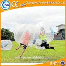 Promenade en boule à bulle plastique rebondir boule, boule gonflable avec manche